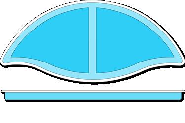 Abacos Fiberglass Pool Tanning Ledge