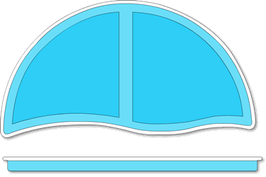 Moroccan Fiberglass Pool Tanning Ledge