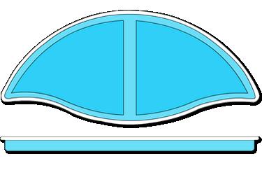 Tahiti Fiberglass Pool Tanning Ledge