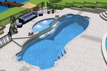 Rio Grande Fiberglass Pool Tanning Ledge