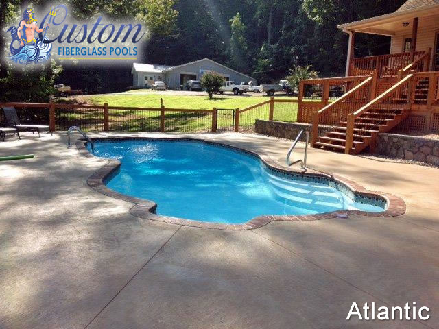 atlantic 8 39 depth fiberglass pools and spas. Black Bedroom Furniture Sets. Home Design Ideas