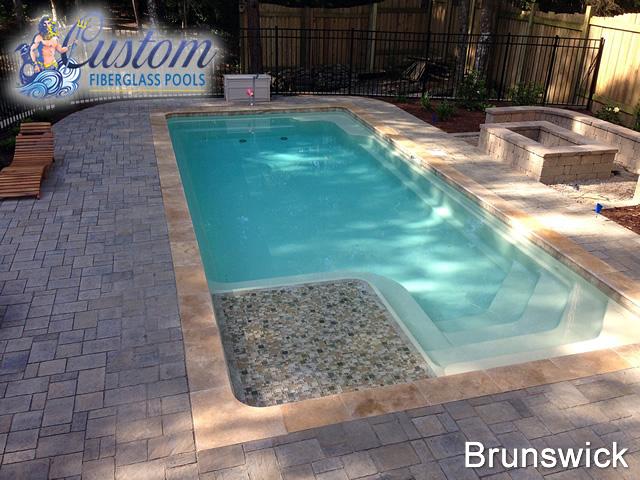 Brunswick Rectangle Fiberglass Pools And Spas