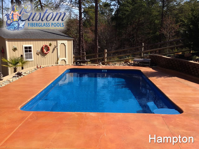 Hampton Rectangle Fiberglass Pools And Spas