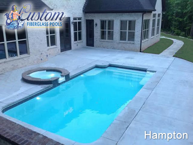 Hampton rectangle fiberglass pools and spas for Pool design hamptons