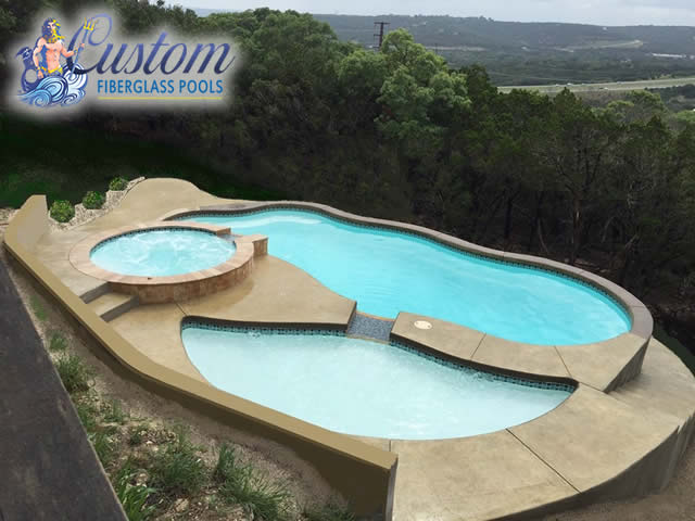 Fiberglass tanning ledges fiberglass pools and spas for Knoxville public swimming pools