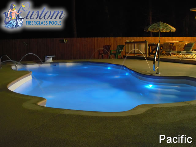 Pacific 8 Depth Fiberglass Pools And Spas